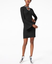 Inc International Concepts Petite Embellished Keyhole Dress Created For Macy's Deep Black