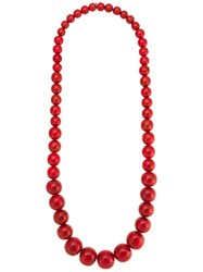 Olympiah Marrocos Beaded Nacklace Red