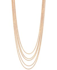 2028 Rose Gold Tone Multi Chain Layer Necklace