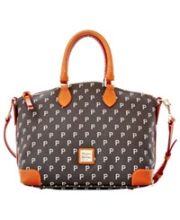 Dooney And Bourke Pittsburgh Pirates Satchel Black