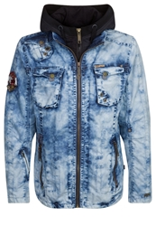 Khujo Casper Denim Jacket Blue Marble Blue Denim