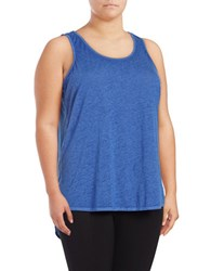 Marc New York Cutout Active Tank Top Royal Blue