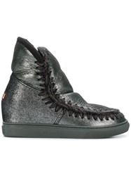 Mou Inner Wedge Sneaker Boots Black