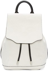 Rag And Bone White Leather Mini Pilot Backpack