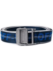 Off White Tape Logo Belt Blue
