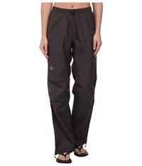Jack Wolfskin Cloudburst Pants Dark Steel Women's Casual Pants Brown