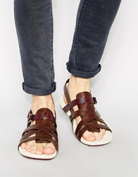 Paul Smith Jeans Seberg Leather Sandals Brown