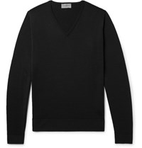 John Smedley Blenheim Merino Wool Sweater Black