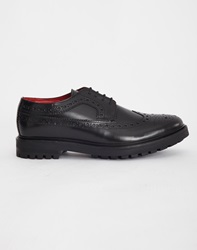 Base London Davy Chunky Brogue Black