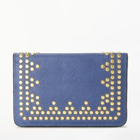 And Or Isabella Leather Card Holder Blue