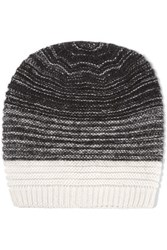 Duffy Ribbed Merino Wool Blend Beanie Black