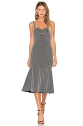 Amanda Uprichard Loulette Dress Black And White
