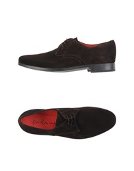 Pas De Rouge Lace Up Shoes Dark Brown