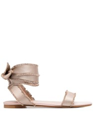 Red Valentino Redvalentino City Ballet Tie Sandals 60