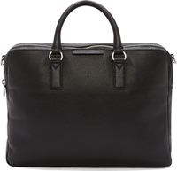 Marc By Marc Jacobs Black Pebbled Leather Briefcase