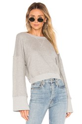 Spiritual Gangster Nadia Wide Sleeve Crew Gray