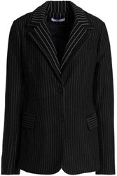 Bailey 44 Layered Pinstriped Knitted Blazer Black