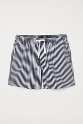 Handm H M Cotton Shorts Relaxed Fit Blue