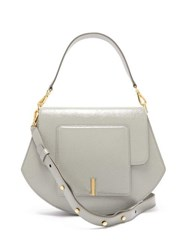 Wandler Al Crinkled Patent Leather Cross Body Bag Grey