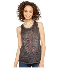 Rock And Roll Cowgirl Tank Top 49 2109 Charcoal Women's Sleeveless Gray