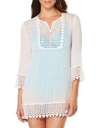 Jantzen Semi Sheer Tunic Cover Up White