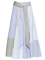 Lisa Marie Fernandez Patchwork Cotton Poplin Skirt
