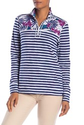 Tommy Bahama Mini Harbour Stripe 1 2 Zip Pullover Kingdom Blue