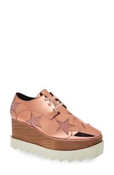 Women's Stella Mccartney Platform Oxford Copper Rose Faux Patent