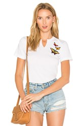Jet John Eshaya Butterfly Patch Tee White