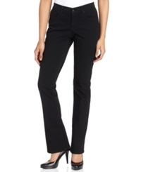 Style And Co. Petite Tummy Control Modern Bootcut Jeans Noir Wash