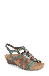 Women's Cobb Hill 'Hannah' Leather Sandal Teal Leather
