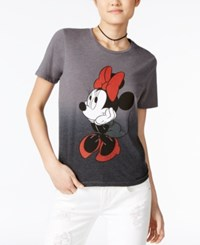 Mighty Fine Disney Juniors' Minnie Mouse Graphic T Shirt Heather Charcoal
