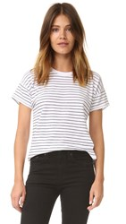 Rag And Bone Vintage Stripe Crew Tee White Black