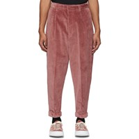 Ami Alexandre Mattiussi Red Oversized Carrot Trousers