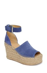 Marc Fisher Ltd Adalyn Espadrille Wedge Sandal Blue Suede