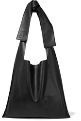 Loewe Bow Oversized Leather Shoulder Bag Black