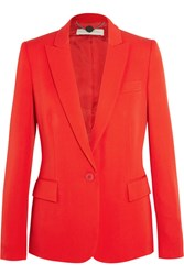 Stella Mccartney Iris Wool Crepe Blazer Tomato Red