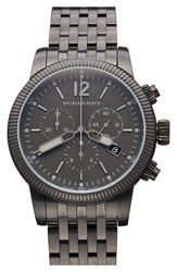 Men's Burberry Round Chronograph Bracelet Watch 42Mm