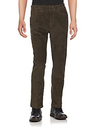 Saks Fifth Avenue Solid Straight Leg Pants Moss