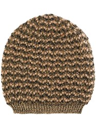 Twin Set Knitted Beanie Nude And Neutrals