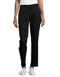 Nydj Relaxed Fit Cotton Blend Chinos Black