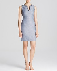 Nydj Colleen Ribbon Shift Dress Denim