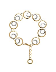 Lord And Taylor Gold Rush 14K Yellow Gold Double Open Circle Link Necklace