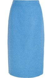 Max Mara Textured Alpaca And Silk Blend Midi Skirt Azure
