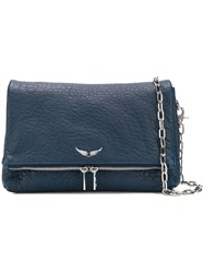 Zadig And Voltaire Rocky Bubble Crossbody Bag Blue