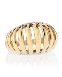 Lagos Wide Two Tone Textured Ring Size 7