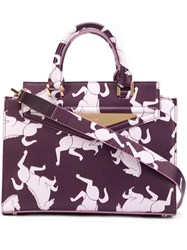 Vionnet Horse Crossbody Bag Pink Purple