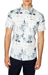 7 Diamonds Aura Floral Sport Shirt Seafoam