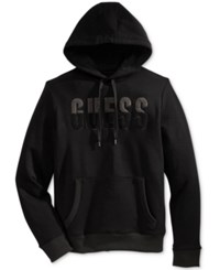 Guess Men's Graphic Pullover Sweatshirt Jet Black