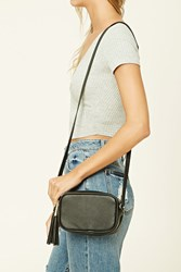 Forever 21 Faux Leather Mini Crossbody Black